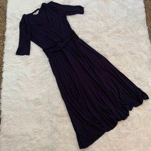 Boden Navy Kassidy Jersey Midi Wrap Dress